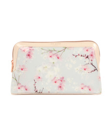 Ted Baker Womens Grey Jilli Oriental Blossom Wash Bag