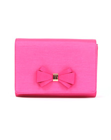 Ted Baker Womens Pink Graciee Grosgrain Bow Clutch