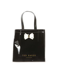 Ted Baker Womens Black Alacon Plain Bow Large Icon Bag