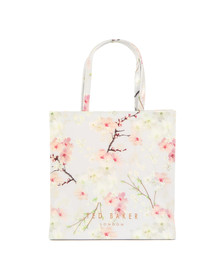 Ted Baker Womens Grey Salecon Oriental Blossom Large Icon Bag
