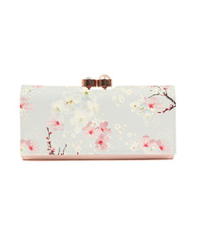 Ted Baker Womens Grey Chiara Oriental Bloom Patent Matinee Purse
