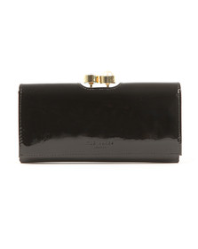 Ted Baker Womens Black Cecilie Pearl Bobble Patent Matinee Purse