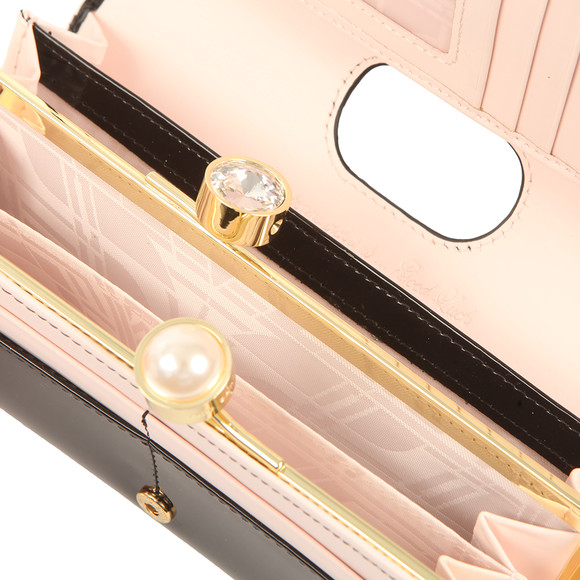 774eb3983 Ted Baker Womens Black Cecilie Pearl Bobble Patent Matinee Purse main image