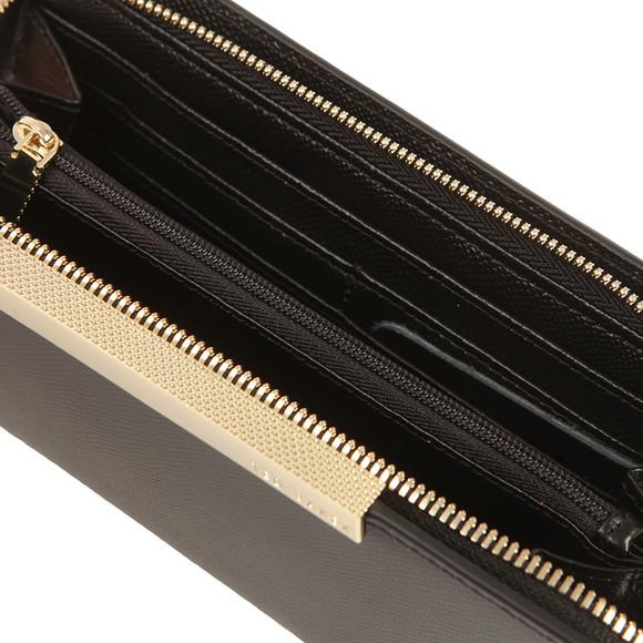 a07235350 Ted Baker Womens Black Darrah Crosshatch Textured Bar Zip Matinee Purse  main image
