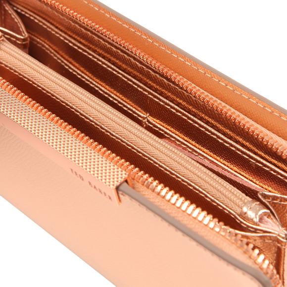 837cc2883 Ted Baker Womens Pink Darrah Crosshatch Textured Bar Zip Matinee Purse main  image