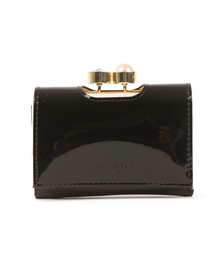 Ted Baker Womens Black Alix Pearl Bobble Patent Small Purse