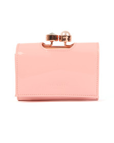 Ted Baker Womens Pink Alix Pearl Bobble Patent Small Purse