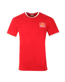 Ellesse Mens Red Montefello Ringer T Shirt