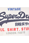 Superdry Mens White Shirt Shop Tee