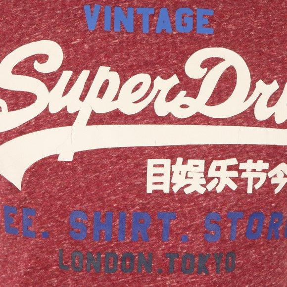 Superdry Mens Red Shirt Shop Tee main image
