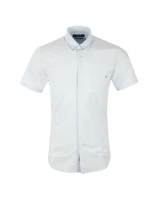Replay Mens Blue S/S Plain Shirt