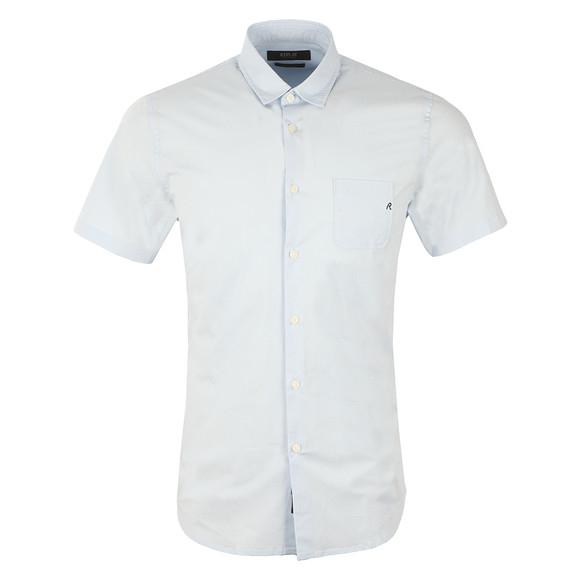 Replay Mens Blue S/S Plain Shirt main image
