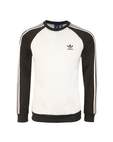 Adidas Originals Mens White Superstar Crew Sweatshirt