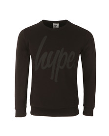 Hype Mens Black Script Crew Neck Sweatshirt
