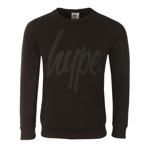 Hype Mens Black Script Crew Neck Sweatshirt main image