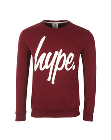 Hype Mens Red Script Crew Neck Sweatshirt