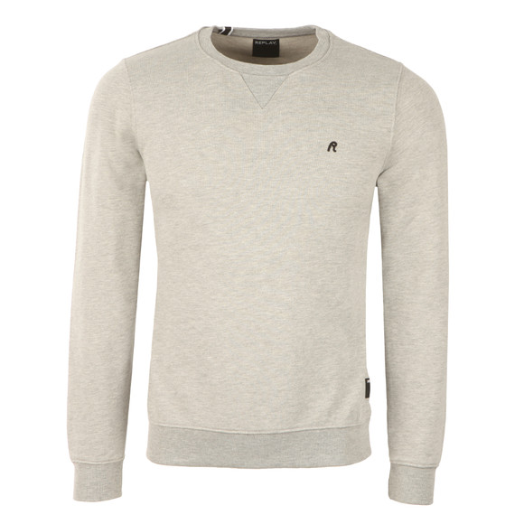 Replay Mens Grey M3290C Plain Sweatshirt main image
