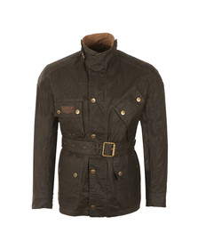 Barbour International Triumph Mens Green Minerva Wax Jacket