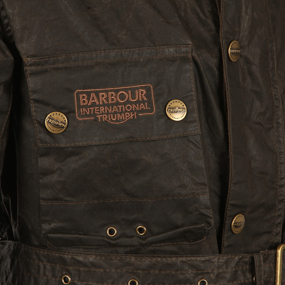 Barbour International Triumph Mens Green Minerva Wax Jacket main image