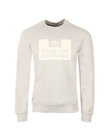 Weekend Offender Mens Grey Penitentiary Classic Crew Sweatshirt