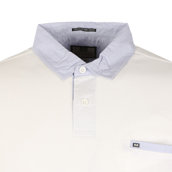 Weekend Offender Mens White Boilermaker Polo Shirt main image