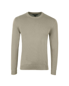 Aquascutum Mens Grey Corwin Cotton Crew Neck Jumper