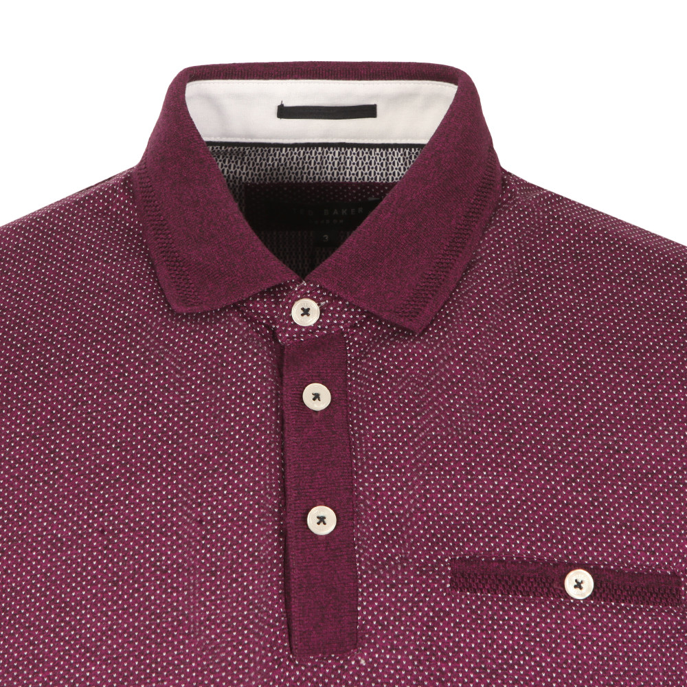 6d0cd45e38529d Ted Baker Otto SS Flat Knit Collar Jacq Polo