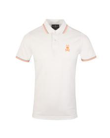 Psycho Bunny Mens White Neon Bunny Polo Shirt