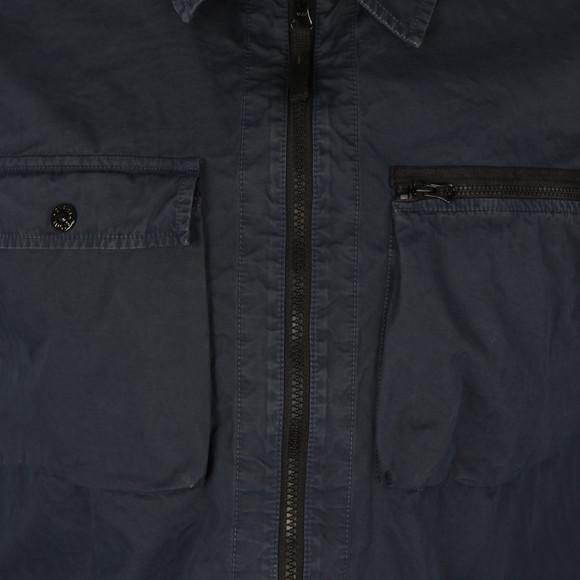 Stone Island Mens Blue Full Zip Overshirt main image