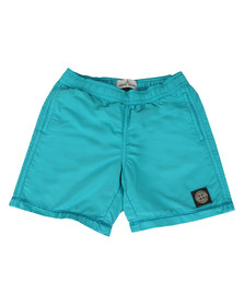 Stone Island Junior  Boys Blue Square Logo Swimshort
