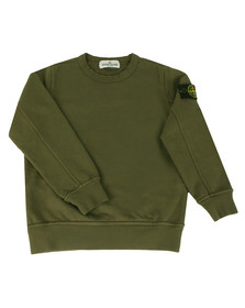 Stone Island Junior  Boys Green Lightweight Crew Sweatshirt