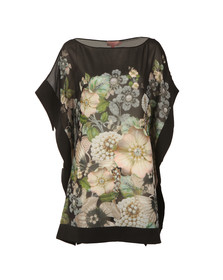Ted Baker Womens Black Geminaa Gem Gardens Cover Up