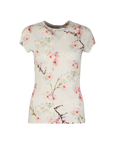 Ted Baker Womens Grey Millis Oriental Blossom Fitted Tee