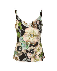 Ted Baker Womens Black Rianeen Gem Garden Cami Top