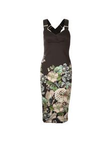 Ted Baker Womens Black Jayer Gem Gardens Bodycon Dress