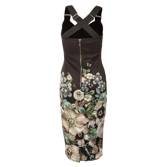 Ted Baker Womens Black Jayer Gem Gardens Bodycon Dress main image