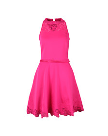 Ted Baker Womens Pink Zaffron Embroidered Skater Dress