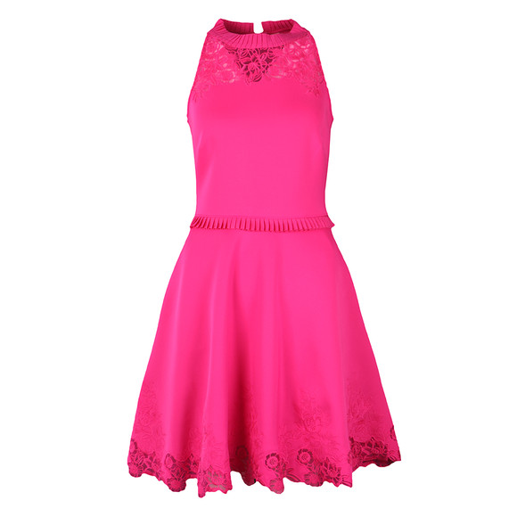Ted Baker Womens Pink Zaffron Embroidered Skater Dress main image