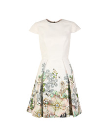 Ted Baker Womens Off-white Yvetta Gem Gardens Cap Sleeve Dress