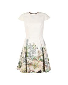 Ted Baker Womens Off-white Yvetta Gem Gardens Cap Sleeve Dress