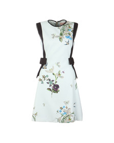 Ted Baker Womens Green Sipnela Spring Meadow A Line Bow Dress