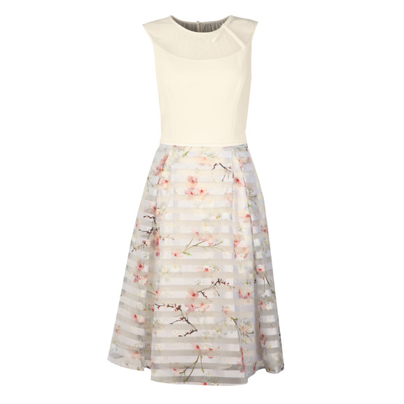 Ted Baker Womens Grey Monah Oriental Blossom Contrast Dress main image