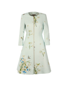 Ted Baker Womens Blue Racheel Spring Meadow Print Coat