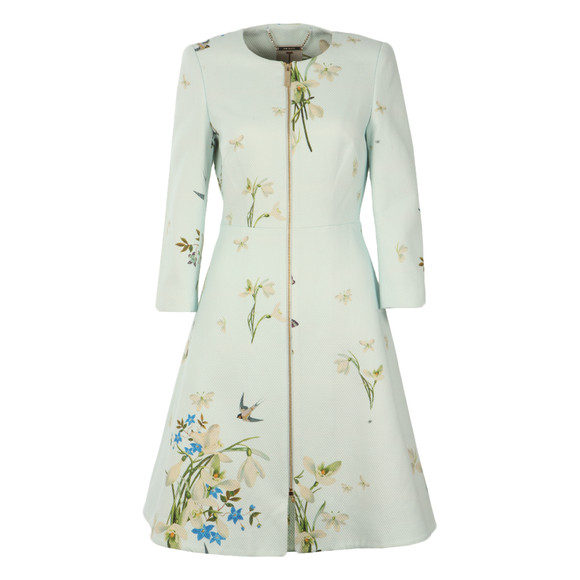 Ted Baker Womens Blue Racheel Spring Meadow Print Coat main image