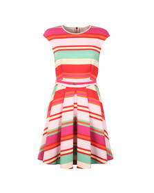 Ted Baker Womens Pink Mayya Pier Stripe Skater Dress