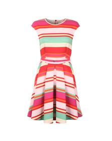 Ted Baker Womens Pink Mayya Pier Stripe Skater Dress