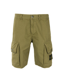 Stone Island Mens Green Badge Cargo Shorts
