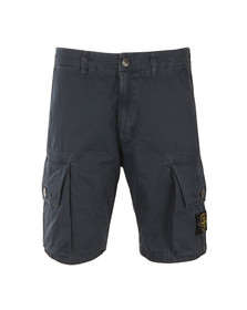 Stone Island Mens Blue Badge Cargo Shorts