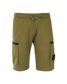 Stone Island Mens Green Badge Sweat Shorts