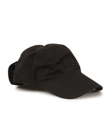 CP Company Mens Black Cap With Goggles
